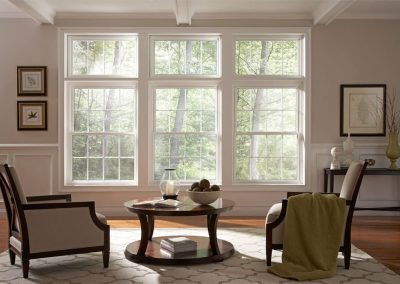 Alside Straight A-8 Oriel Style Double Hung Window Replacement and Installation - Savannah Windows & More